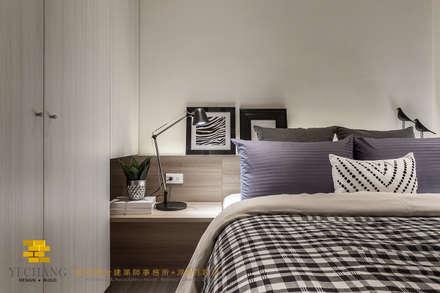 次臥二:  臥室 by 垼程建築師事務所/浮見月設計工程有限公司