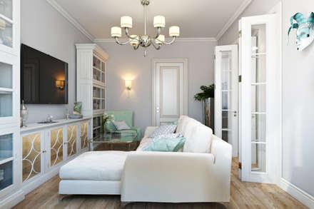 moderne Wohnzimmer von Дарья Баранович Дизайн Интерьера