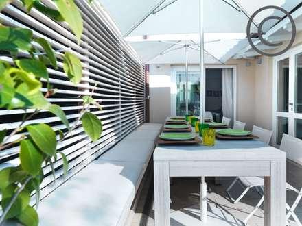 Residenza Privata P.V.  - Empoli: Giardino in stile in stile Moderno di Zeno Pucci+Architects