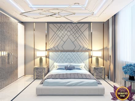 Contemporary style in interiors of Katrina Antonovich: modern Bedroom by Luxury Antonovich Design