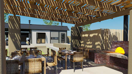 Pizza Pavillion:  Terrace by Edge Design Studio Architects