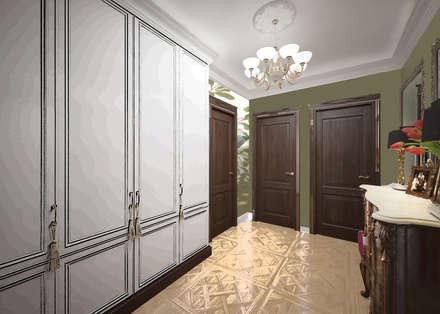 Городская квартира с элементами стиля барокко: Коридор и прихожая в . Автор – Дизайн-бюро Анны Шаркуновой 'East-West'