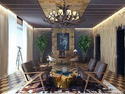 Проект офиса с отделкой дерева: Офисы и магазины в . Автор – metrixdesign