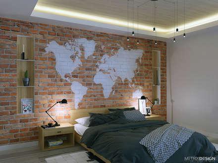 Частный дом 150 м/кв.: Спальни в . Автор – metrixdesign