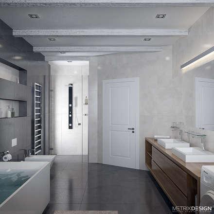Частный дом 150 м/кв.: Ванные комнаты в . Автор – metrixdesign