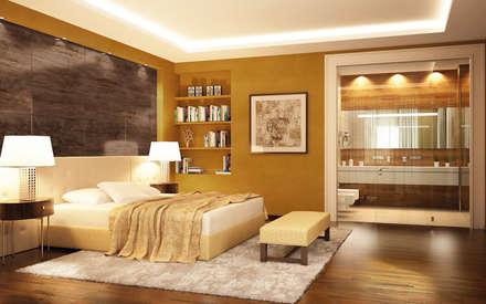 Mediterrane schlafzimmer einrichtungsideen und bilder homify - Wandfarbe mediterran ...