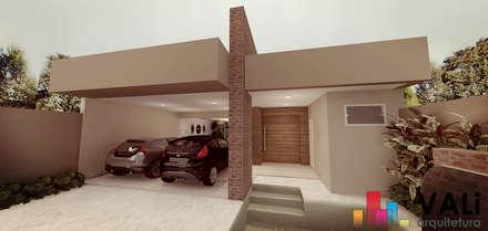 Fachada: Casas modernas por VALi Arquitetura