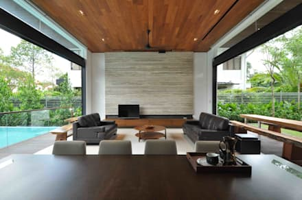 Sunset House: tropical Living room by ming architects