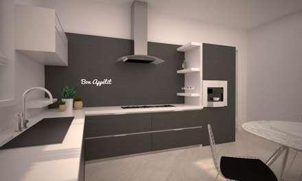LITTLE KITCHEN: Cucina in stile in stile Minimalista di LAB16 architettura&design