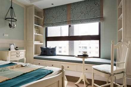 用光譜寫的美式鄉村風:  臥室 by 辰林設計實業有限公司