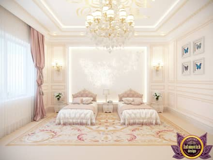 Kids bedroom ideas of Katrina Antonovich: classic Bedroom by Luxury Antonovich Design