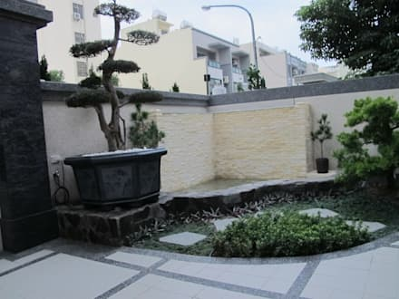 台南(陳公館)新建住宅:  花園 by 三月室內裝修設計有限公司