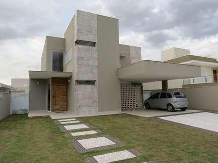 Residencia Reserva da Serra - FACHADA: Casas modernas por Habitat arquitetura
