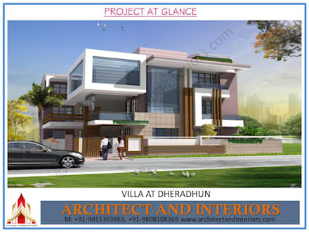 Dheradhun Villa: classic Houses by Absolute Architect and Interiors