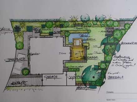 Vorentwurf: moderner Garten von wilhelmi   garten- und landschaftsarchitektur