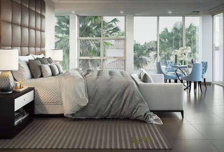 master bed room:  غرفة نوم تنفيذ m.frahat