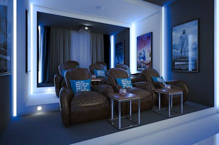minimalistic Media room by m.frahat