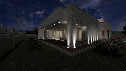 Villa CA: Case in stile in stile Moderno di De Vivo Home Design