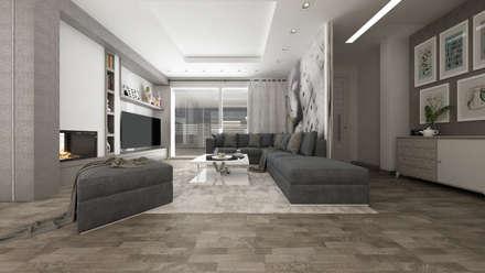 Villa CA: Soggiorno in stile in stile Moderno di De Vivo Home Design