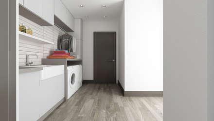 Villa CA: Spogliatoio in stile  di De Vivo Home Design