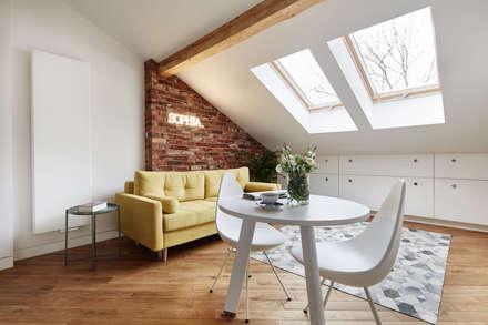: scandinavian Living room by BLACKHAUS