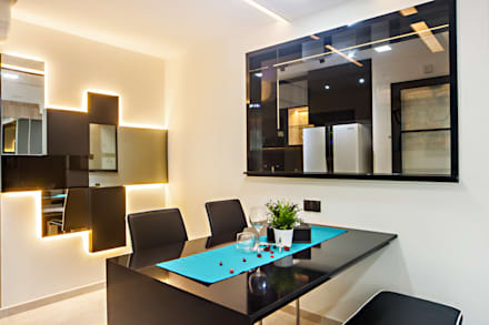 HDB Blk 293B Compassvale Crescent: modern Dining room by Renozone Interior design house