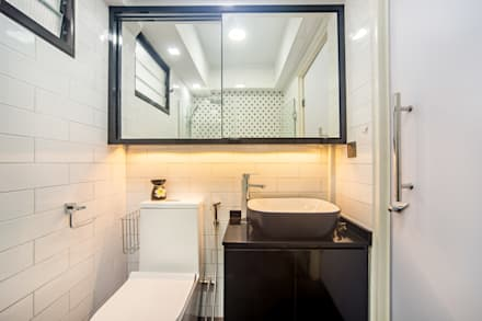 HDB Blk 293B Compassvale Crescent: modern Bathroom by Renozone Interior design house