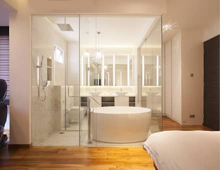 soo chow graden: modern Bathroom by Renozone Interior design house