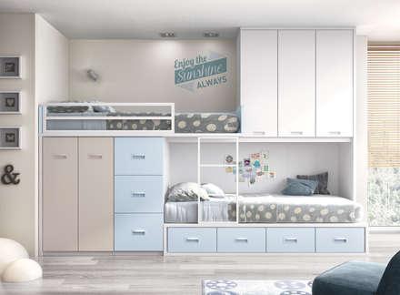 Proyectos habitaciones juveniles: Dormitorios infantiles de estilo moderno de CREA Y DECORA MUEBLES