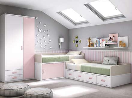 proyectos habitaciones juveniles dormitorios infantiles de estilo moderno de crea y decora muebles - Habitaciones Nias