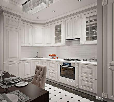 Дизайн двухкомнатной квартиры в стиле неоклассика: Кухни в . Автор – GM-interior