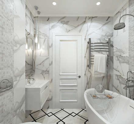 Дизайн двухкомнатной квартиры в стиле неоклассика: Ванные комнаты в . Автор – GM-interior