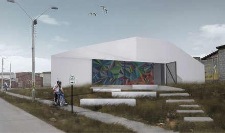 Centro Comunitario Tierras Blancas: Casas de estilo minimalista por Superficie Arquitectura