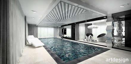 nowoczesny dom z basenem: styl , w kategorii Basen zaprojektowany przez ARTDESIGN architektura wnętrz