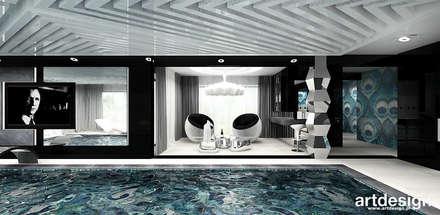 basen i domowe spa: styl , w kategorii Basen zaprojektowany przez ARTDESIGN architektura wnętrz