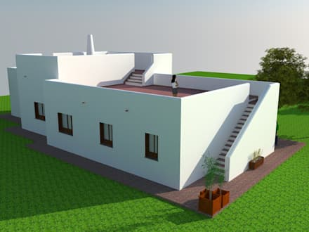 Vivienda unifamiliar aisldada: Casas de estilo mediterráneo de Rimolo & Grosso, arquitectos