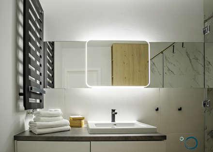 łazienka: styl , w kategorii Łazienka zaprojektowany przez LEMUR Architekci