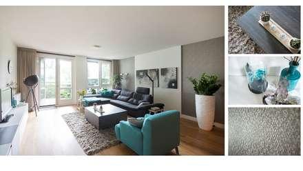 Appartement Goirle: moderne Woonkamer door Studio'OW Interieurontwerp
