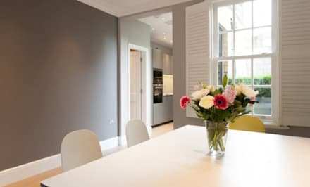 : modern Dining room by Diamond Constructions Ltd