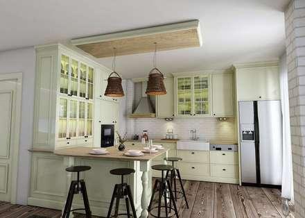 vAvien İç Mimarlık – Country house : kırsal tarz tarz Mutfak