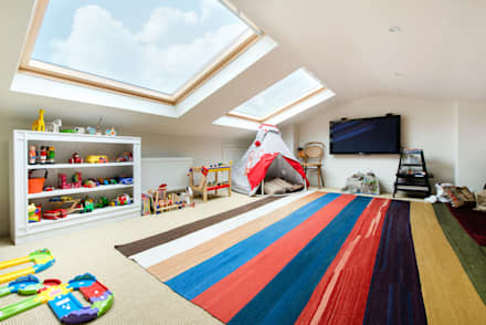 Netherton Grove: modern Nursery/kid's room by Orchestrate Design and Build Ltd.