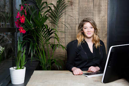Grace Gordon, Office Manager:  Office buildings by Orchestrate Design and Build Ltd.