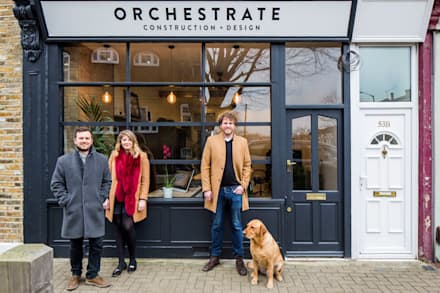 The team:  Office buildings by Orchestrate Design and Build Ltd.