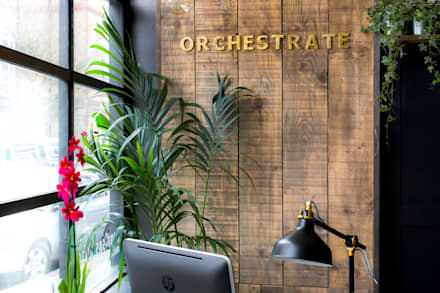 Orchestrate Office, Battersea:  Office buildings by Orchestrate Design and Build Ltd.