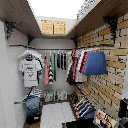rustic Dressing room by Grafite - Arquitetura e Interiores