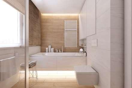 scandinavian Bathroom by BAGUA Pracownia Architektury Wnętrz