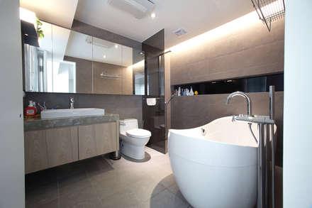 汐止 水蓮山莊 黃宅:  浴室 by 直譯空間設計有限公司