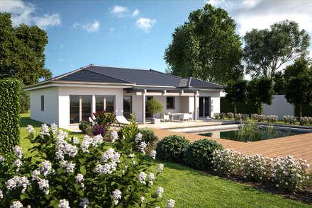 One 139 Gartenansicht: moderne Häuser von Bärenhaus GmbH - das fertige Haus
