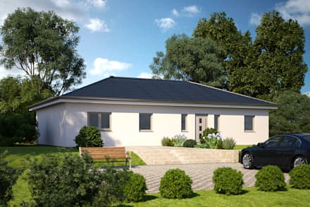 One 139 Eingangsansicht: moderne Häuser von Bärenhaus GmbH - das fertige Haus