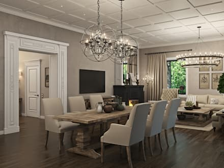 classic Dining room by WideDesignGroup